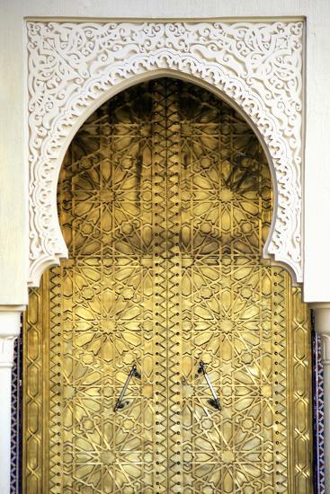 Golden Door and an Arch Way, Casablanca, Morocco-Hisham Ibrahim-Photographic Print