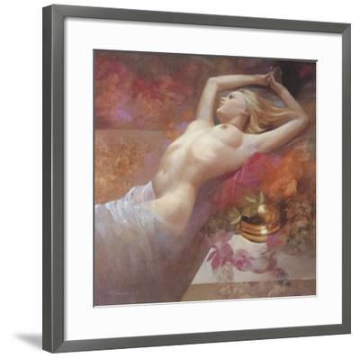 Golden Dreams-Spartaco Lombardo-Framed Art Print