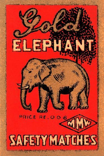 Golden Elephant--Art Print