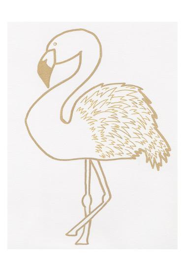 Golden Flamingo-Pam Varacek-Art Print