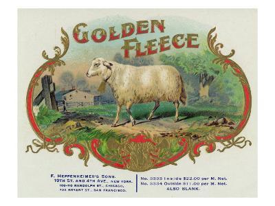 Golden Fleece Brand Cigar Box Label-Lantern Press-Art Print