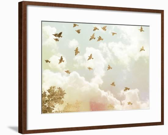 Golden Flight I-Jennifer Goldberger-Framed Art Print