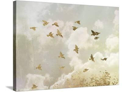 Golden Flight II-Jennifer Goldberger-Stretched Canvas Print