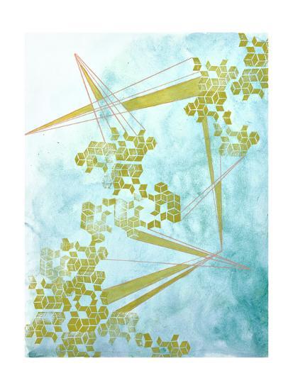 Golden Fractals 1-Emma Jones-Premium Giclee Print