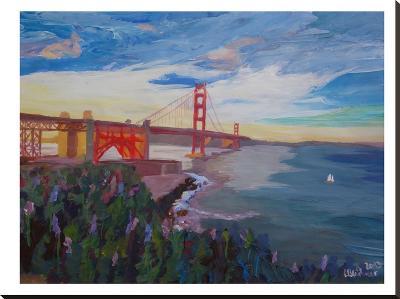 Golden Gate 3-M Bleichner-Stretched Canvas Print