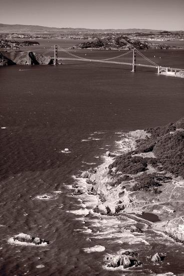 Golden Gate Aloft BW-Steve Gadomski-Photographic Print