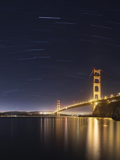Golden Gate and Stars-Moises Levy-Photographic Print