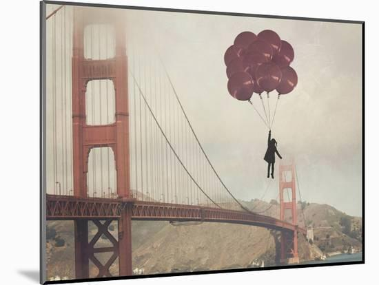 Golden Gate Ballons-Ashley Davis-Mounted Art Print