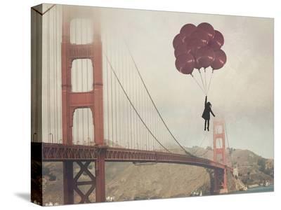 Golden Gate Ballons-Ashley Davis-Stretched Canvas Print