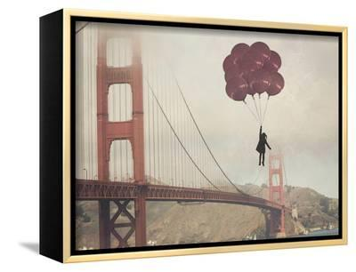Golden Gate Ballons-Ashley Davis-Framed Canvas Print