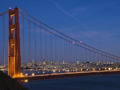 Golden Gate Bridge and San Francisco at Night-James Forte-Photographic Print