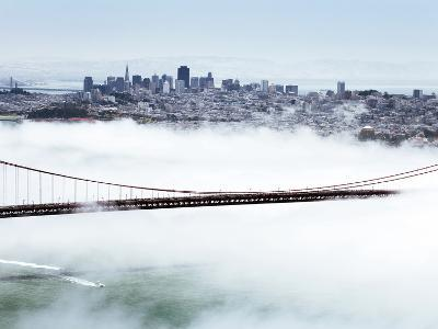 Golden Gate Bridge and the San Francisco Skyline Floating Above the Fog on a Foggy Day in San Franc-Gavin Hellier-Photographic Print