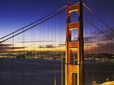 Golden Gate Bridge at Dawn-Brian Lawrence-Photographic Print