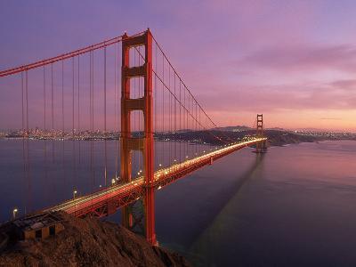 Golden Gate Bridge at Sunset, CA-Kyle Krause-Photographic Print