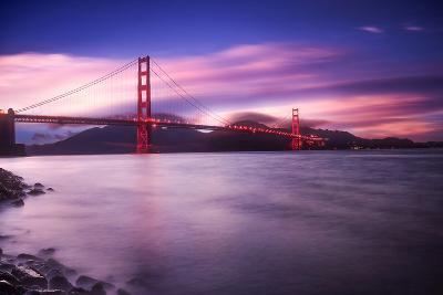 Golden Gate Bridge at Sunset-Philippe Sainte-Laudy-Photographic Print