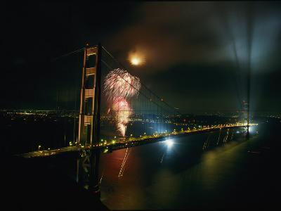 Golden Gate Bridge Celebration Marking the 50Th Anniversary of its Opening--Photographic Print