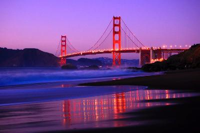 Golden Gate Bridge Dusk-Ian Philip Miller-Photographic Print