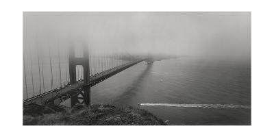 Golden Gate Bridge Fog Panorama-Henri Silberman-Photographic Print