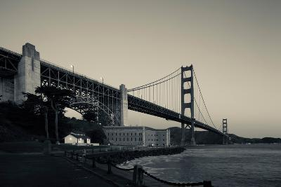 Golden Gate Bridge from Fort Point at Dawn, Golden Gate National Recreation Area--Photographic Print