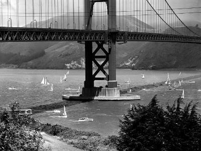 Golden Gate Bridge on Opening Day of the Yacht Season--Photographic Print