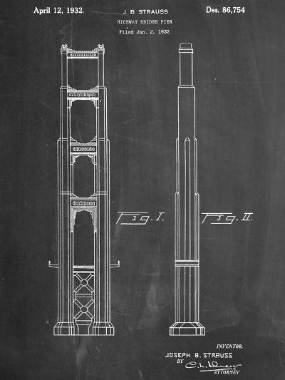 Golden Gate Bridge Patent--Art Print