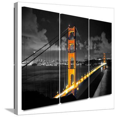 Golden Gate Bridge San Francisco 3 Piece Gallery Wrapped Canvas Set--Gallery Wrapped Canvas Set