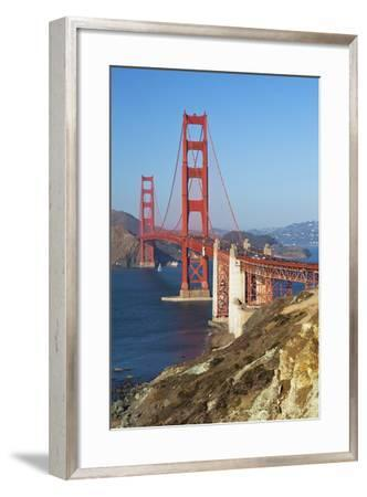 Golden Gate Bridge, San Francisco, California, United States of America, North America-Miles-Framed Photographic Print