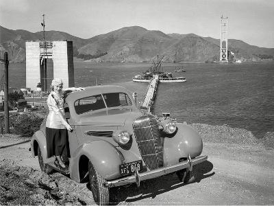 Golden Gate Bridge Under Construction, 1935, San Francisco-Unknown-Art Print