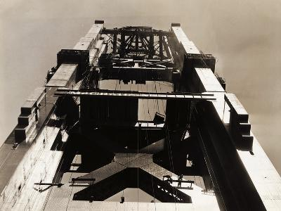 Golden Gate Bridge under Construction--Photographic Print