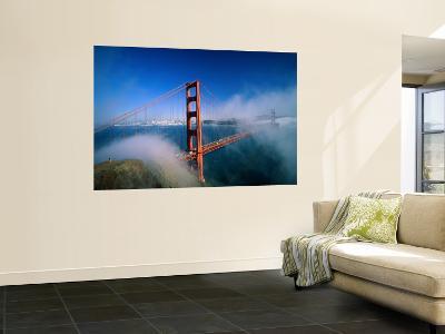 Golden Gate Bridge with Mist and Fog, San Francisco, California, USA-Steve Vidler-Wall Mural