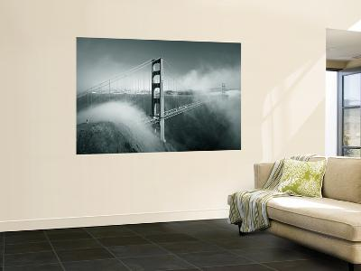 Golden Gate Bridge with Mist and Fog, San Francisco, California, USA-Steve Vidler-Giant Art Print