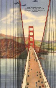 Golden Gate Bridge with Planes, San Francisco, California