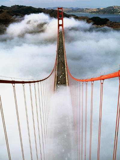 Golden Gate Bridge Wrapped in Fog-Roger Ressmeyer-Photographic Print