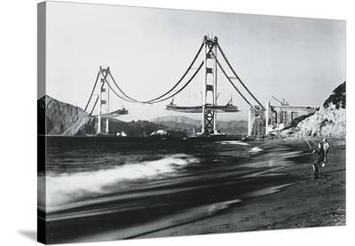 Golden Gate Fishermen, San Francisco--Stretched Canvas Print