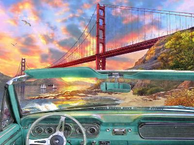 Golden Gate from a Car-Dominic Davison-Art Print