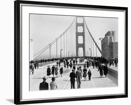 Golden Gate Opening, San Francisco, California, c.1937--Framed Photographic Print