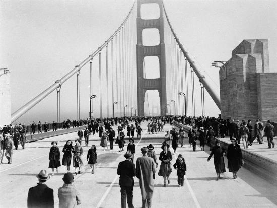 Golden Gate Opening, San Francisco, California, c.1937--Photographic Print