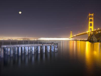 Golden Gate Pier and Stars-Moises Levy-Photographic Print
