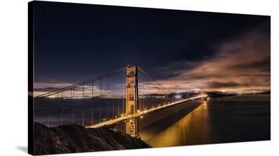 Golden Gate To Stars-Javier De La-Stretched Canvas Print