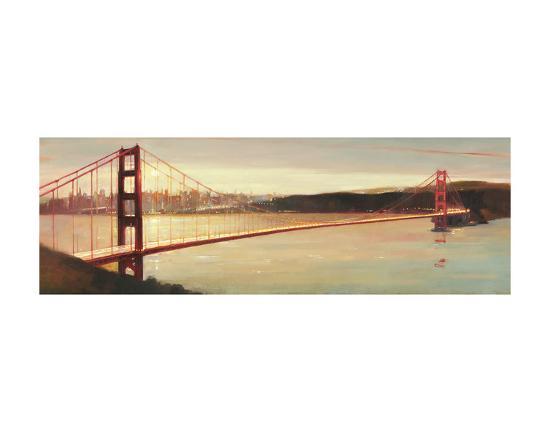 Golden Gate-Paulo Romero-Art Print