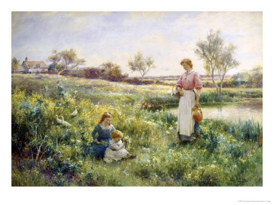 Golden Hours-Alfred Augustus Glendenning-Giclee Print