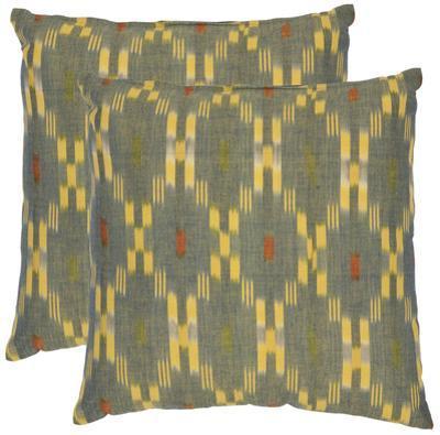 """Golden Ikat Pillow Pair - 18"""""""
