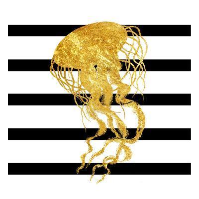 Golden Jelly Fish-Sheldon Lewis-Art Print