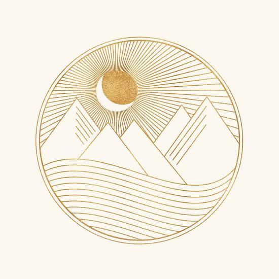 Golden Landscape-Modern Tropical-Art Print