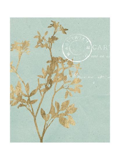 Golden Leaves I-Jennifer Goldberger-Art Print