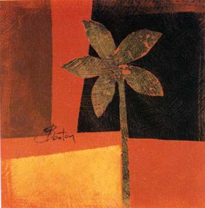 Golden Leaves II-R Barton-Art Print