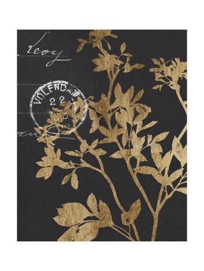 Golden Leaves IV-Jennifer Goldberger-Art Print