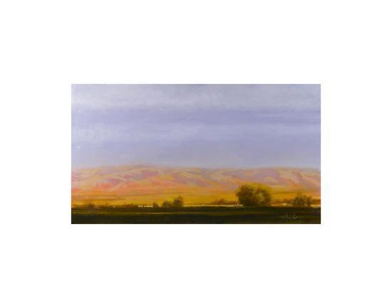 Golden Light on Blue Mountains-Todd Telander-Art Print