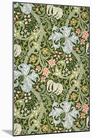 Golden Lily Wallpaper, Paper, England, Late 19th Century-William Morris-Mounted Giclee Print