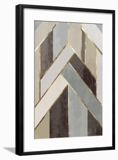 Golden Lines I-PI Studio-Framed Art Print